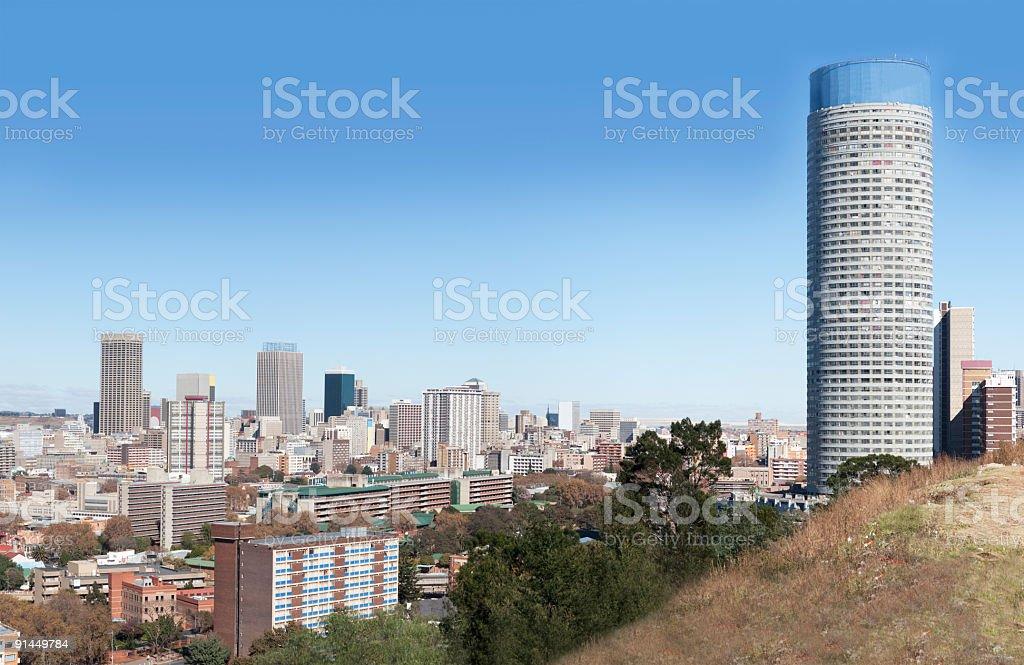 Johannesburg City Centre and Ponte royalty-free stock photo