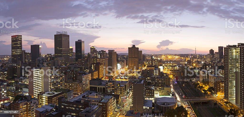 Johannesburg City Centre Panorama stock photo