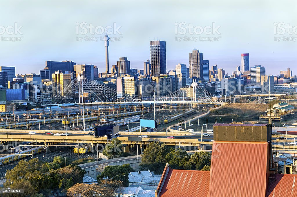Johannesburg city from the West stock photo