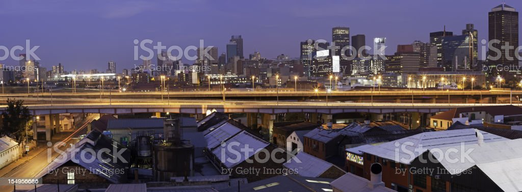 Johannesburg City with M1 highway royalty-free stock photo