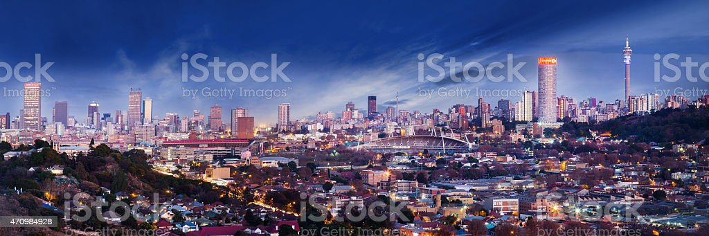 Johannesburg Cityscape stock photo