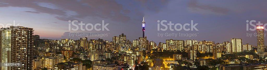 Johannesburg Large Evening Panorama stock photo