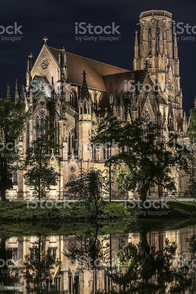 Johanneskirche, Stuttgart, Germany royalty-free stock photo