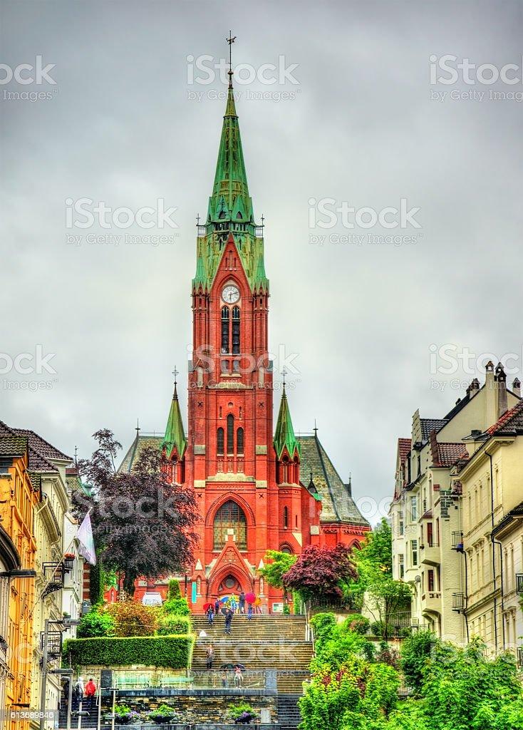 Johanneskirken, St. John Church in Bergen, Norway stock photo