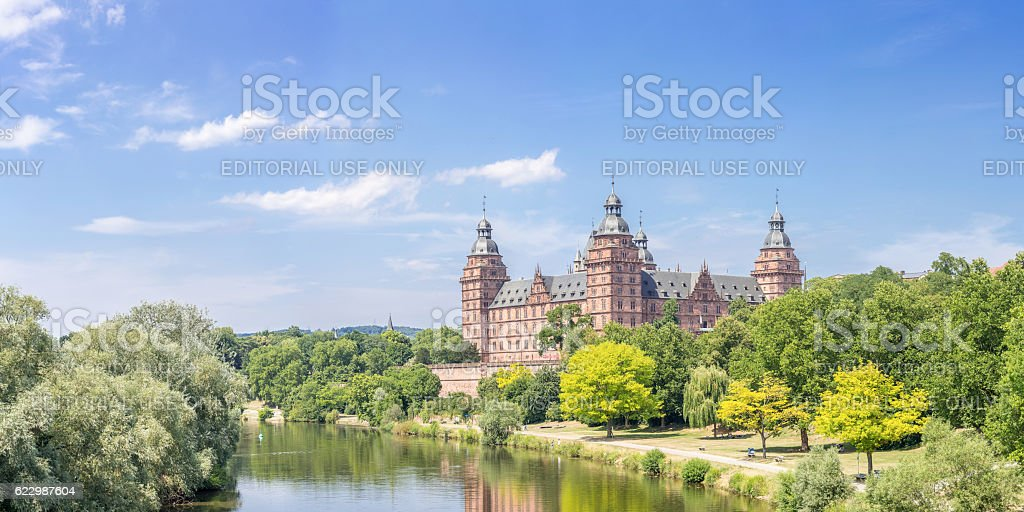 Johannisburg palace panorama stock photo