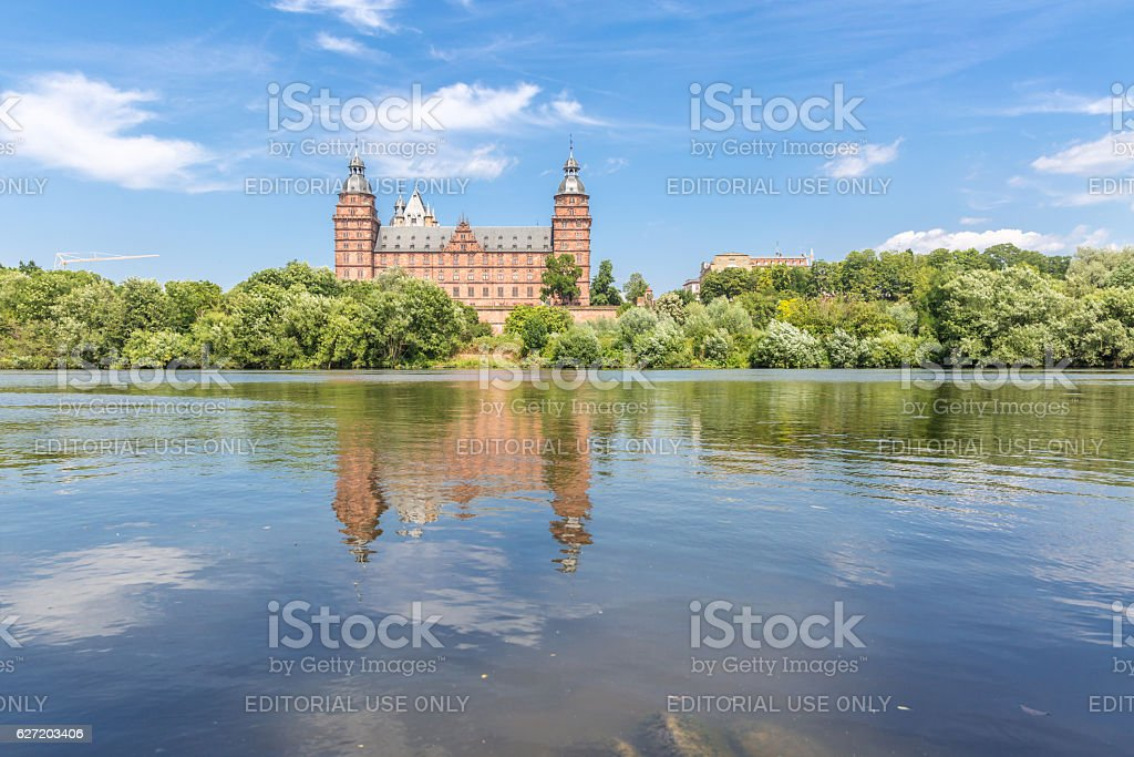 Johannisburg palace stock photo
