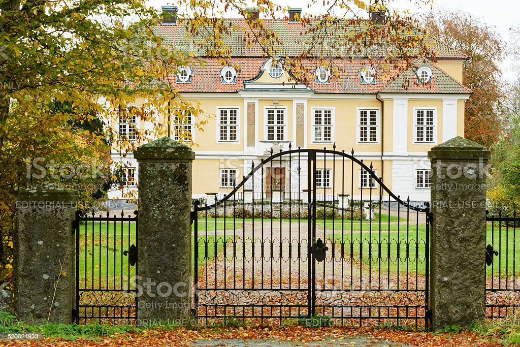 Johannishus castle stock photo