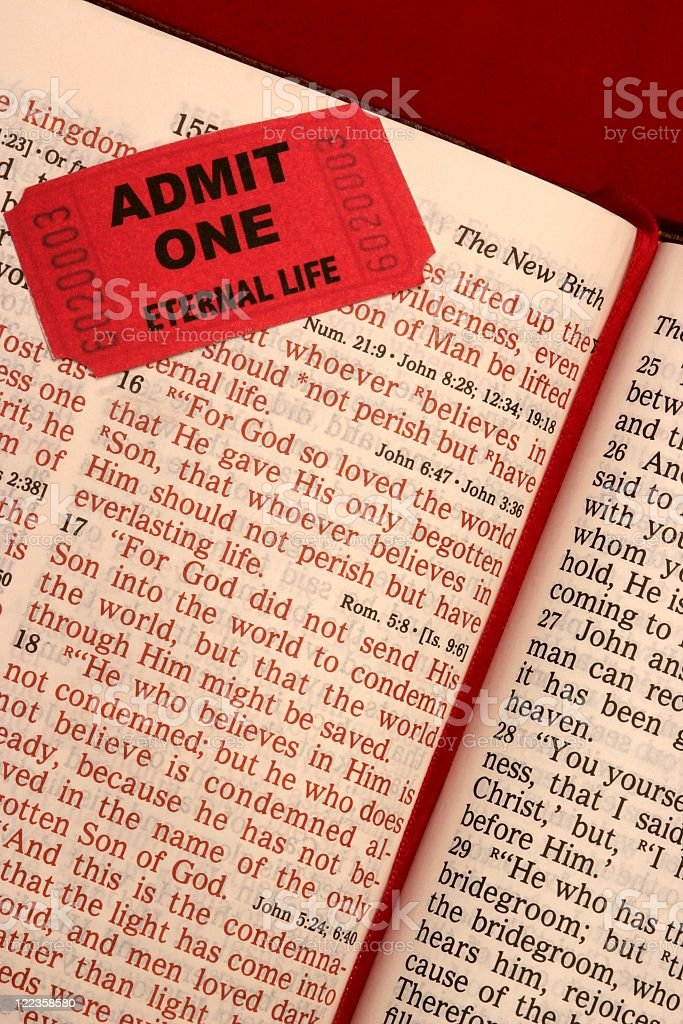 John 3:16 Scripture Vertical royalty-free stock photo