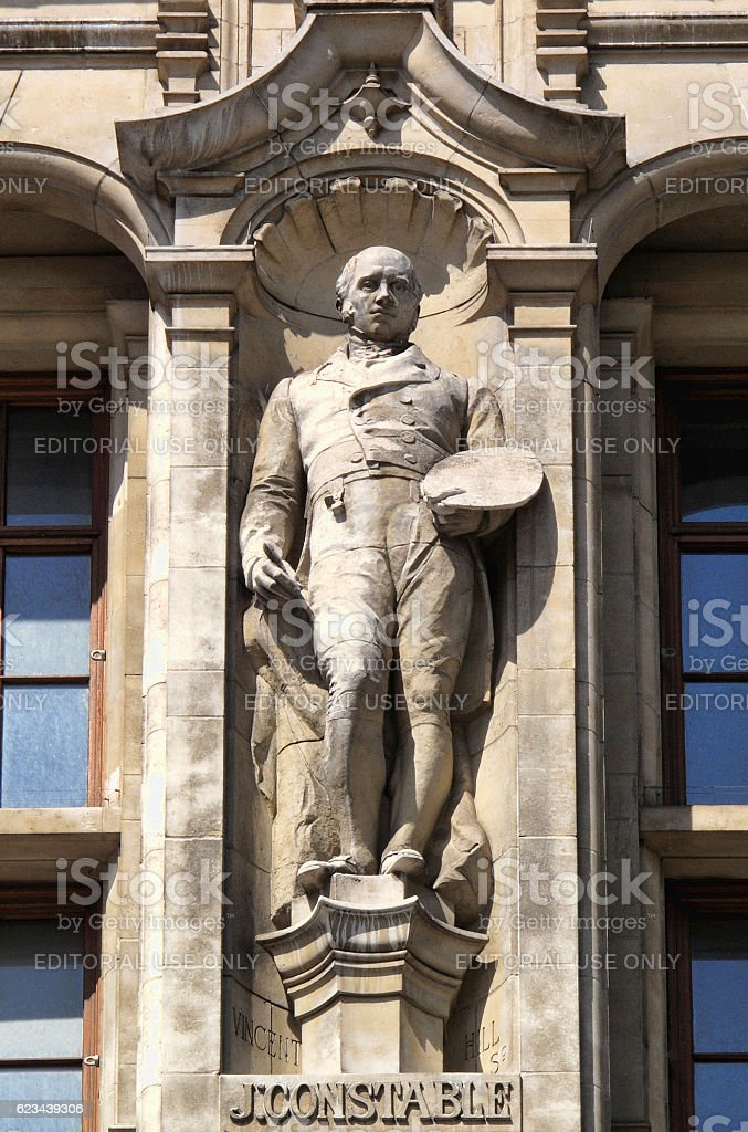 John Constable statue stock photo