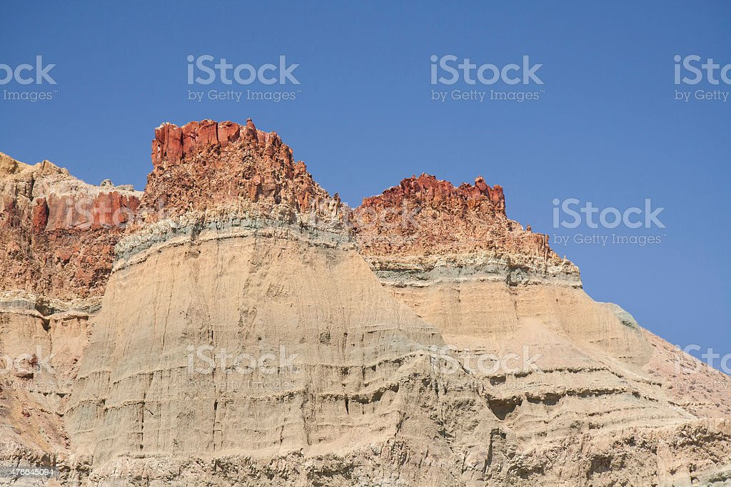 John Day Fossil Beds Mountain Reef stock photo