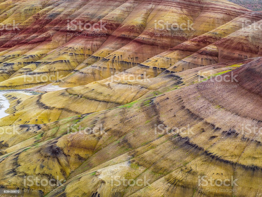John Day Fossil Beds painted hills stock photo