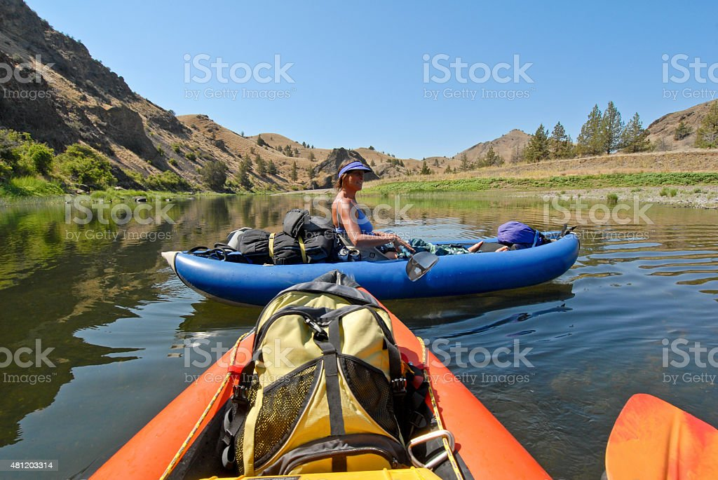 John Day river trip stock photo
