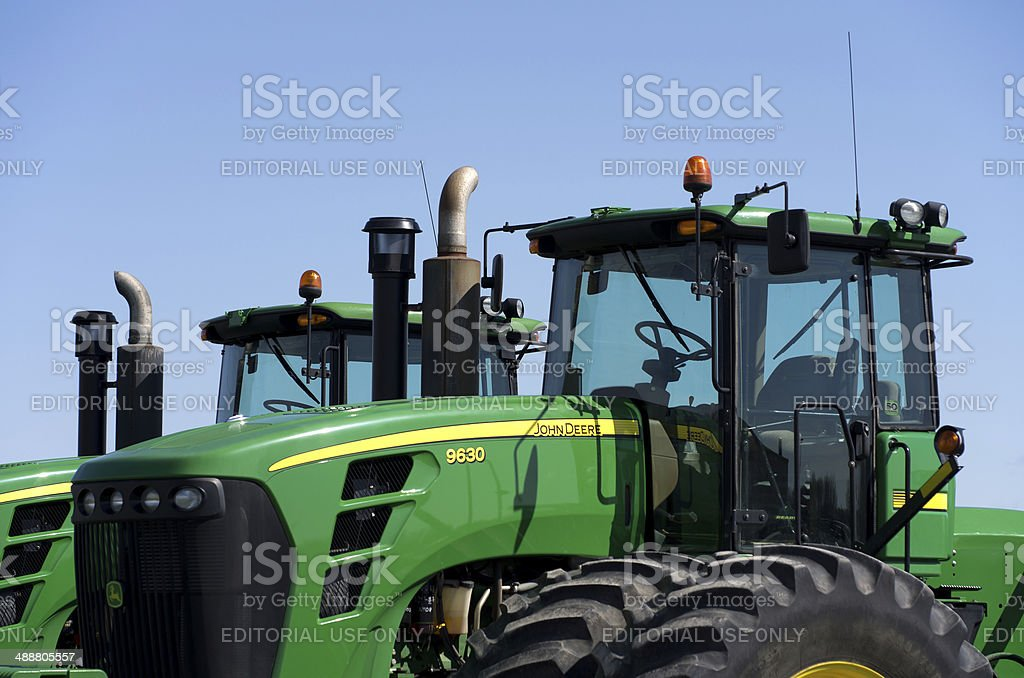 John Deer Farm Equipment stock photo
