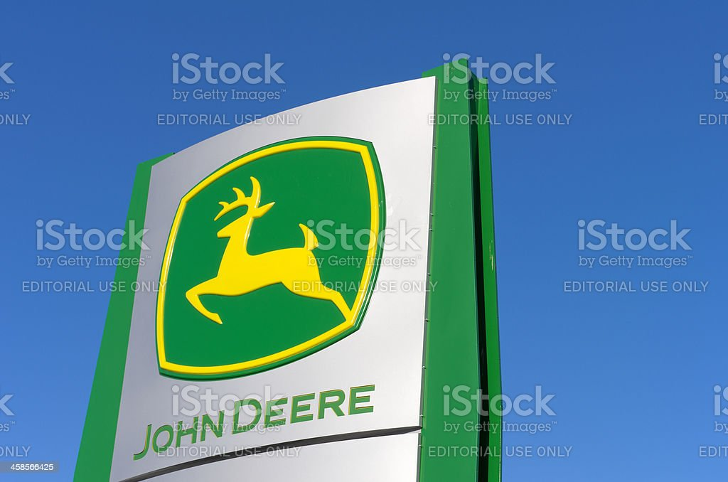 John Deere Sign stock photo