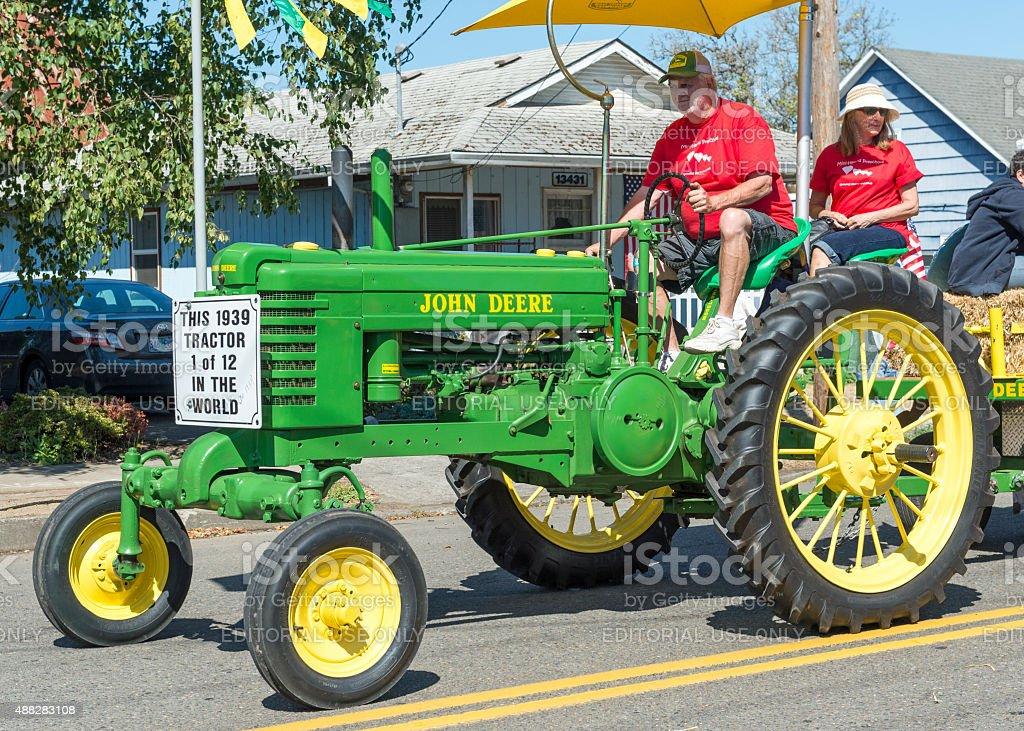 1939 John Deere Tractor Model BWH Grand Parade Banks Oregon stock photo