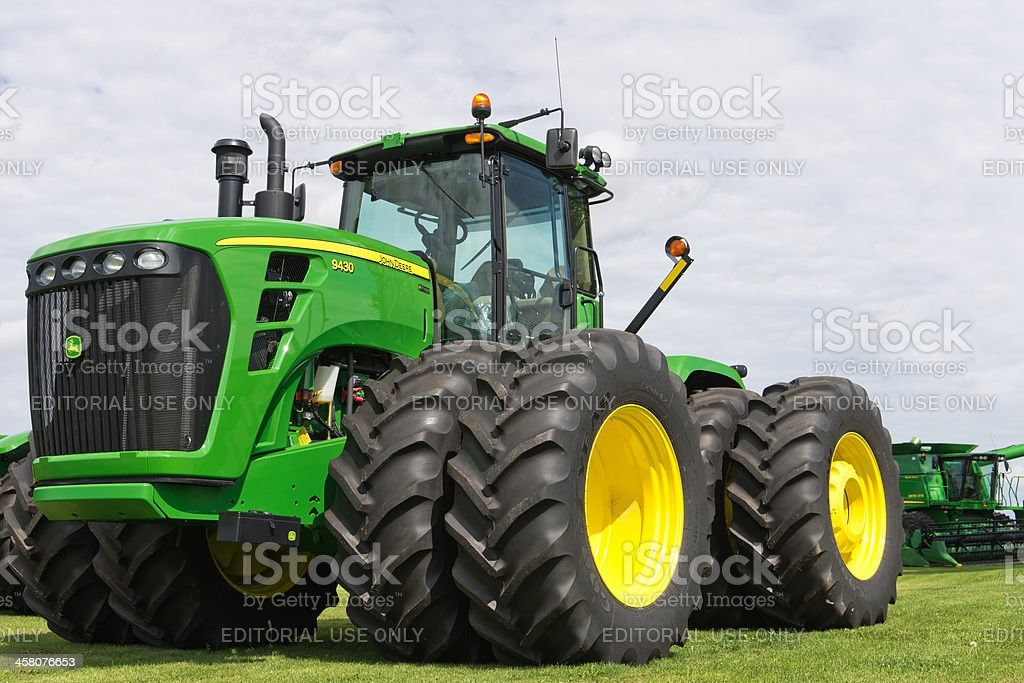 John Deere Tractor royalty-free stock photo