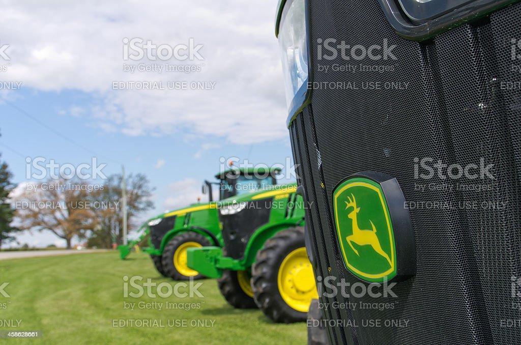 John Deere Tractors and Logo stock photo