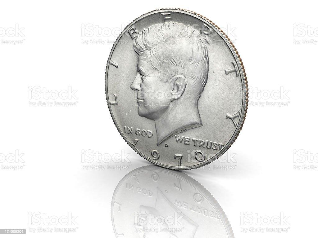 John F. Kennedy Half Dollar royalty-free stock photo