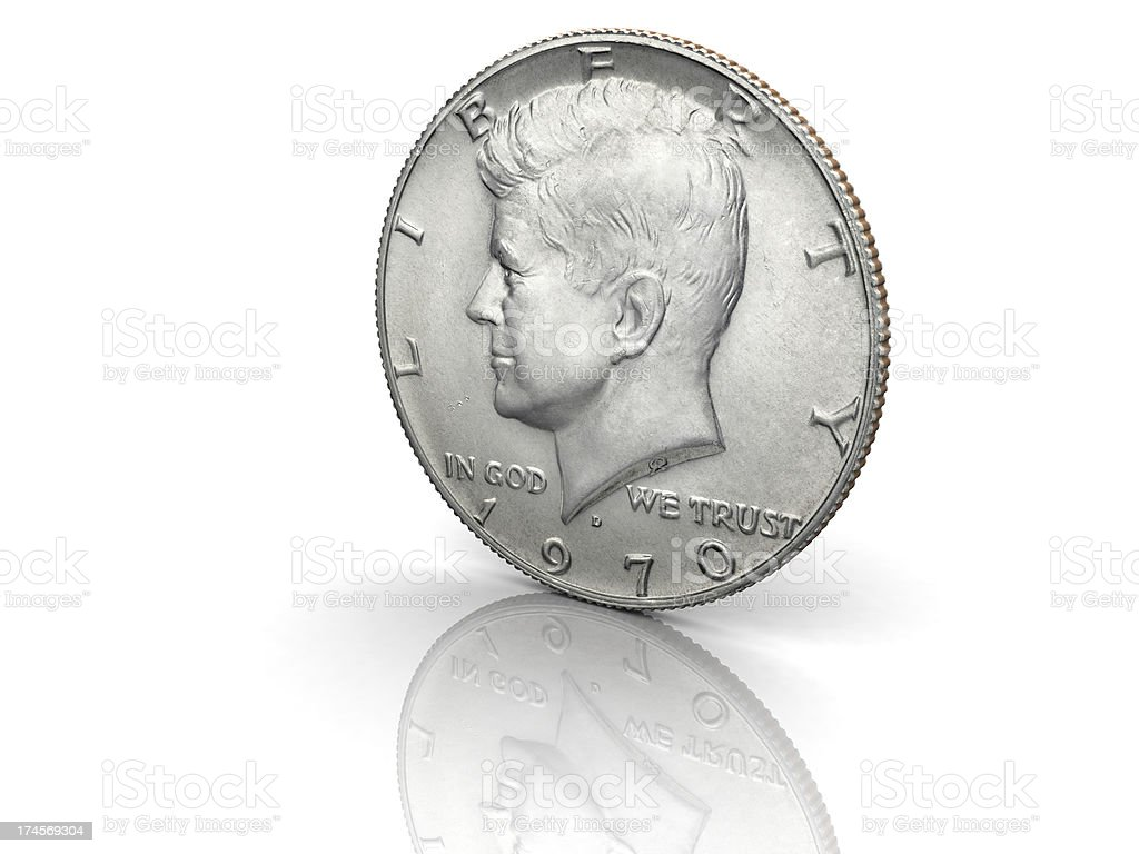 John F. Kennedy Half Dollar stock photo