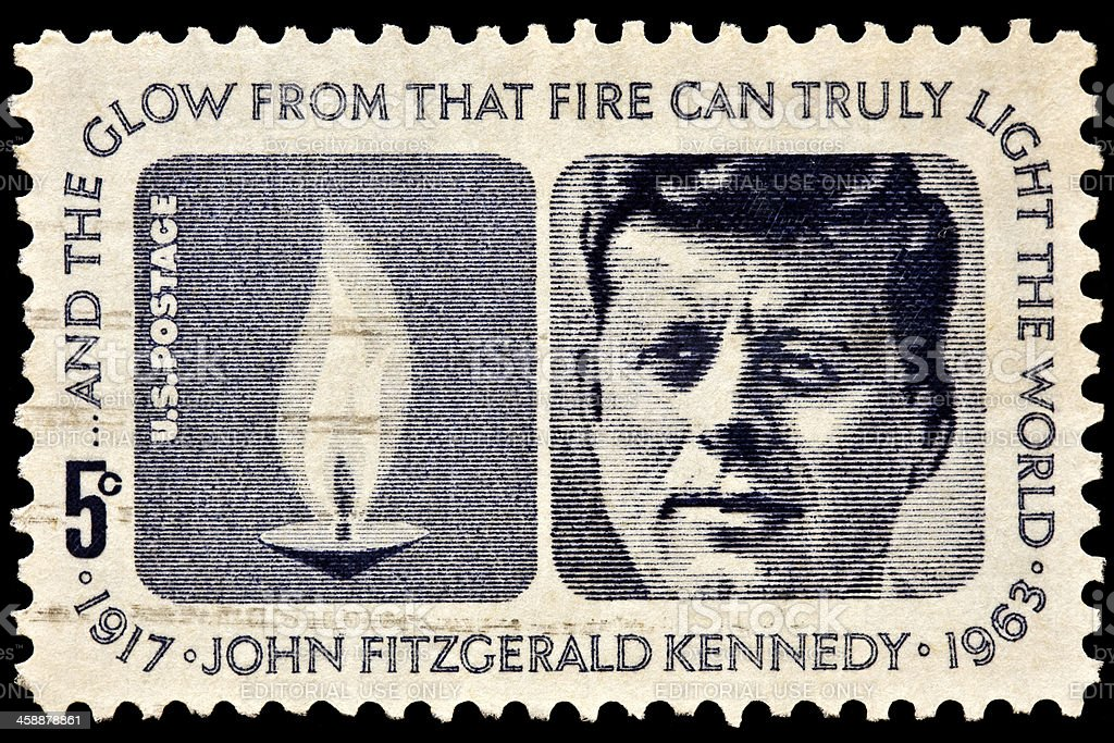 John F. Kennedy Memorial Postal Issue royalty-free stock photo