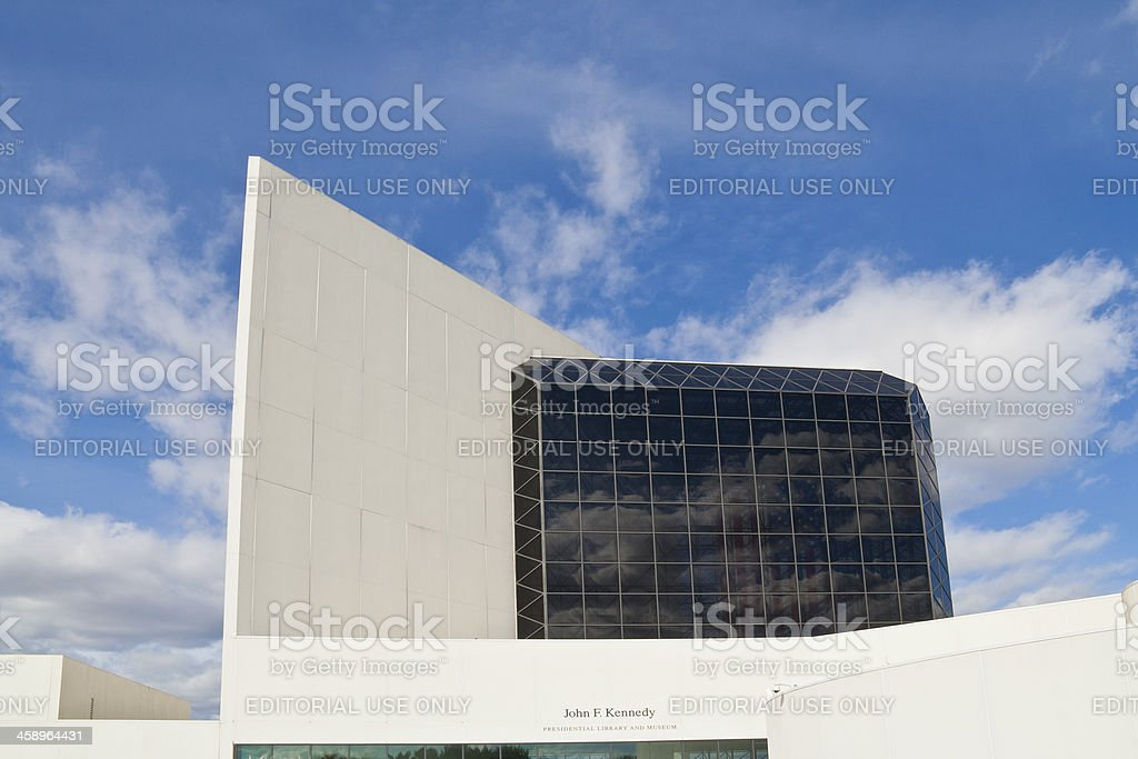 John F. Kennedy Presential Library and Museum stock photo
