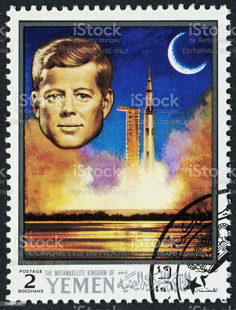 John F. Kennedy Stamp royalty-free stock photo