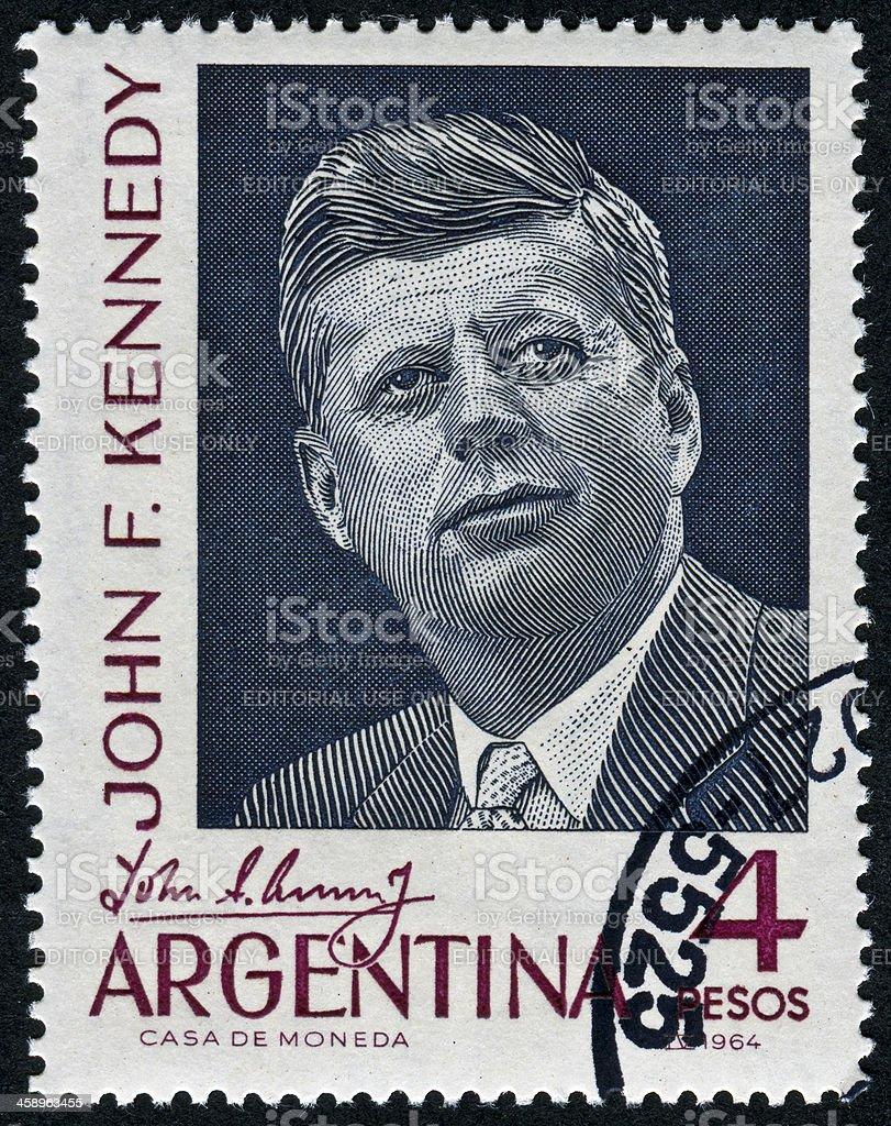 John F. Kennedy Stamp royalty-free stock photo