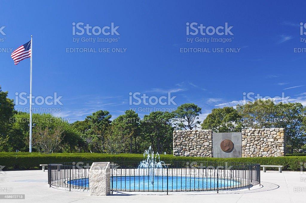 John Fitzgerald Kennedy Memorial, Hyannis, Cape Cod, Massachusetts, Blue sky. stock photo