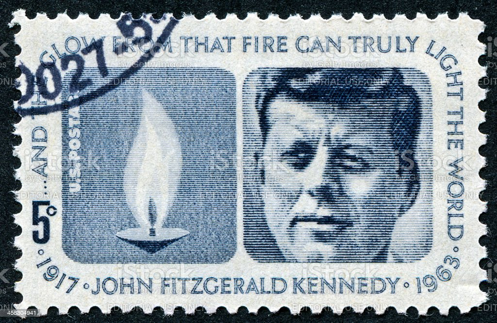 John Fitzgerald Kennedy Stamp royalty-free stock photo