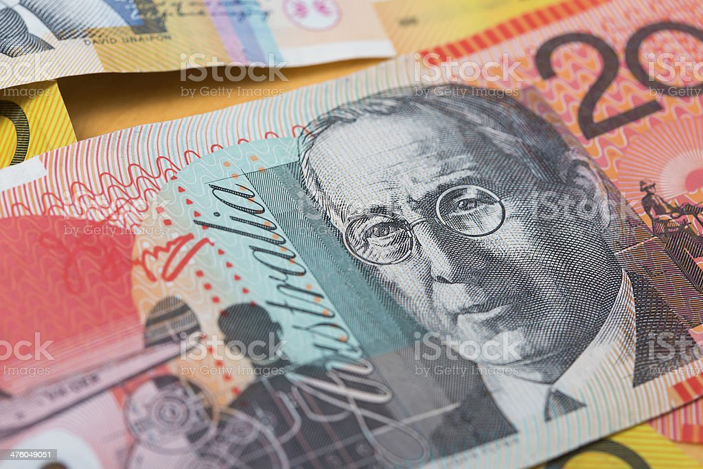 John Flynn Australian Money stock photo