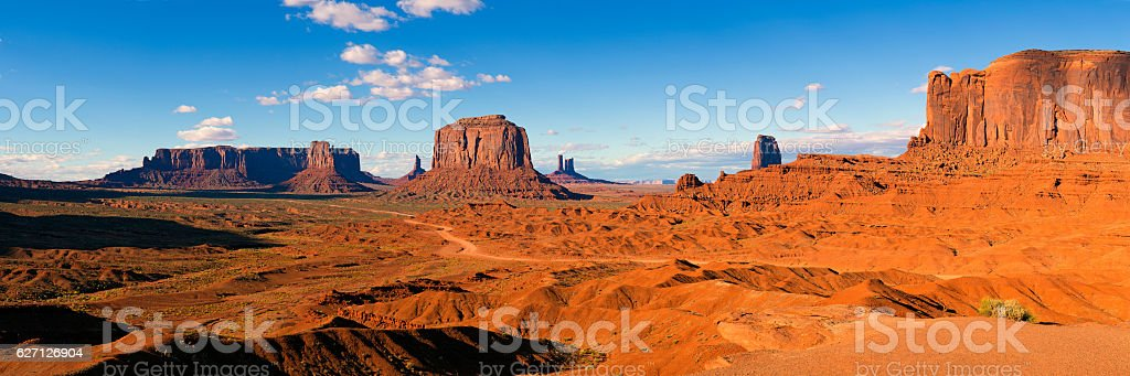 John Ford's Point - panorame stock photo