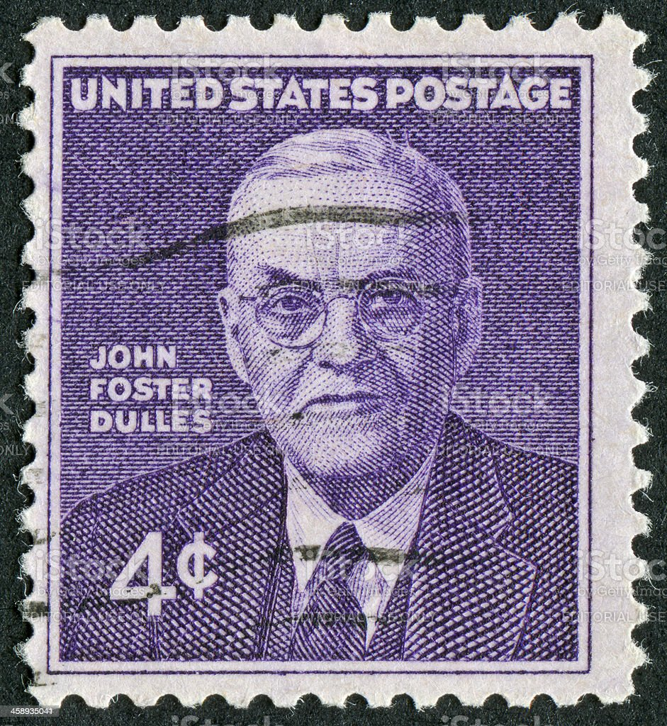 John Foster Dulles Stamp stock photo