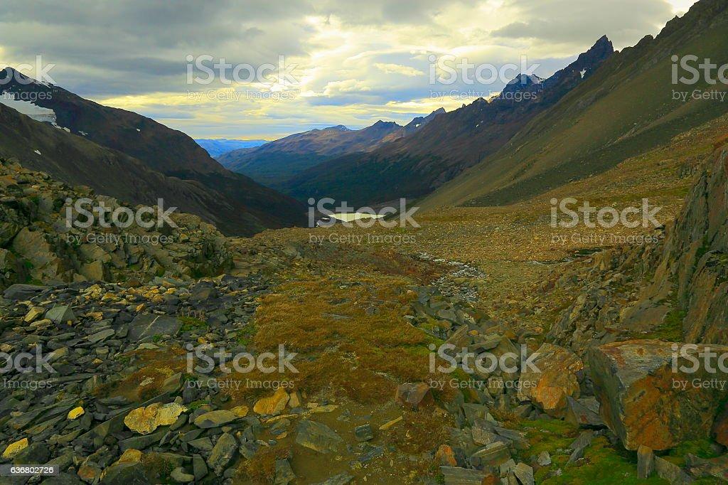 John Gardner Pass, Torres Del Paine Wilderness, Patagonia, South America stock photo
