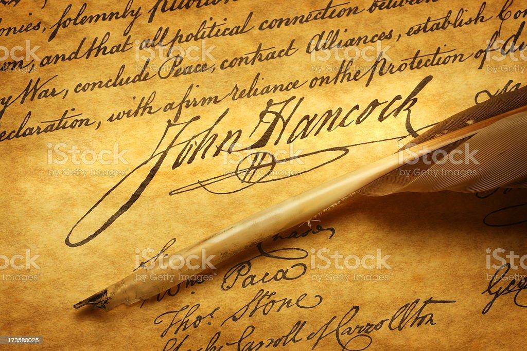 John Hancock royalty-free stock photo