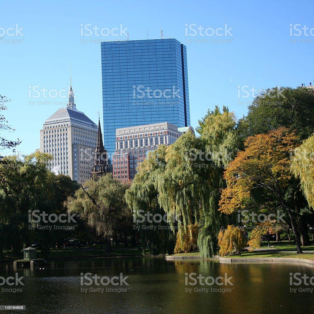 John Hancock tower Boston royalty-free stock photo