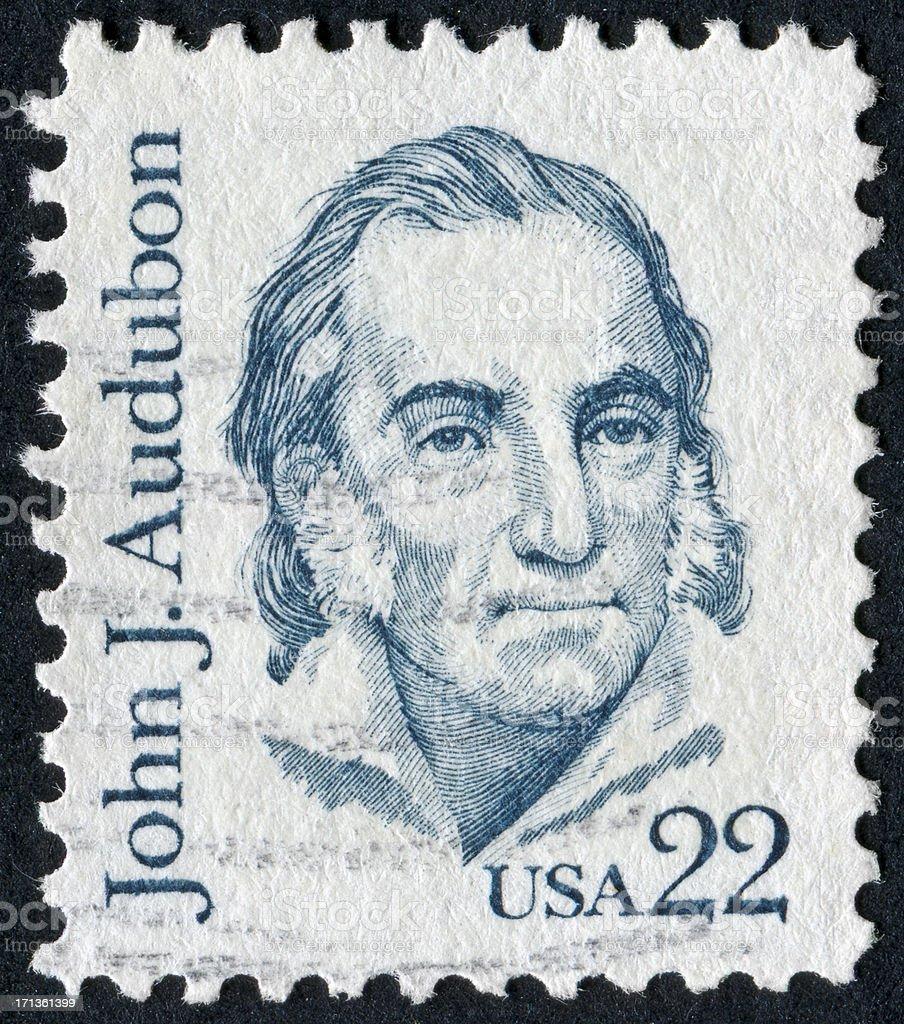 John James Audubon Stamp stock photo