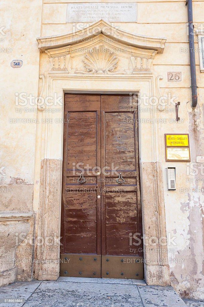 John Keats's Apartment in Rome, Italy stock photo