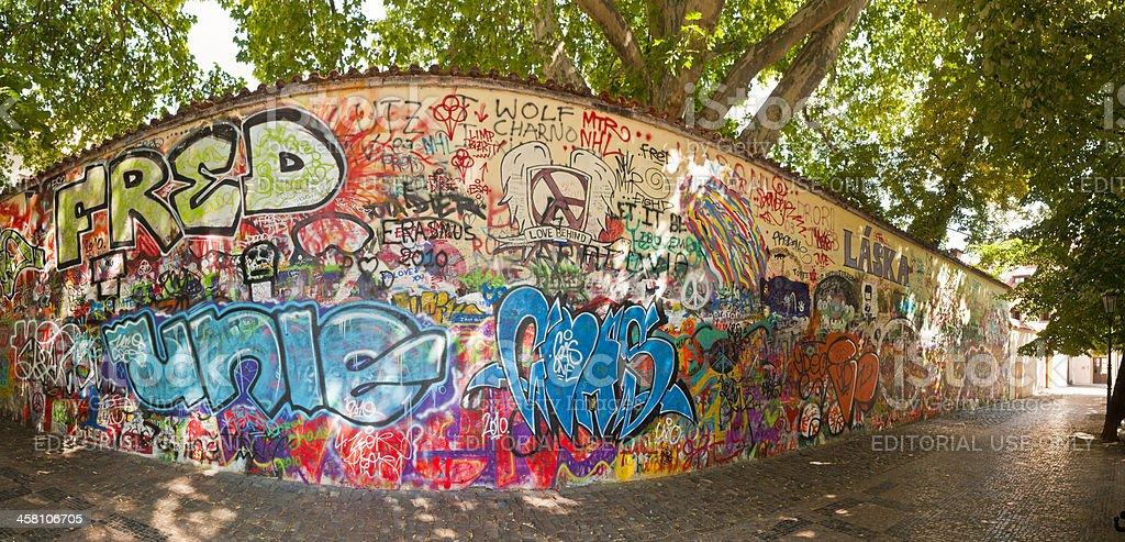 John Lennon Wall, Prague, Czech Republic royalty-free stock photo