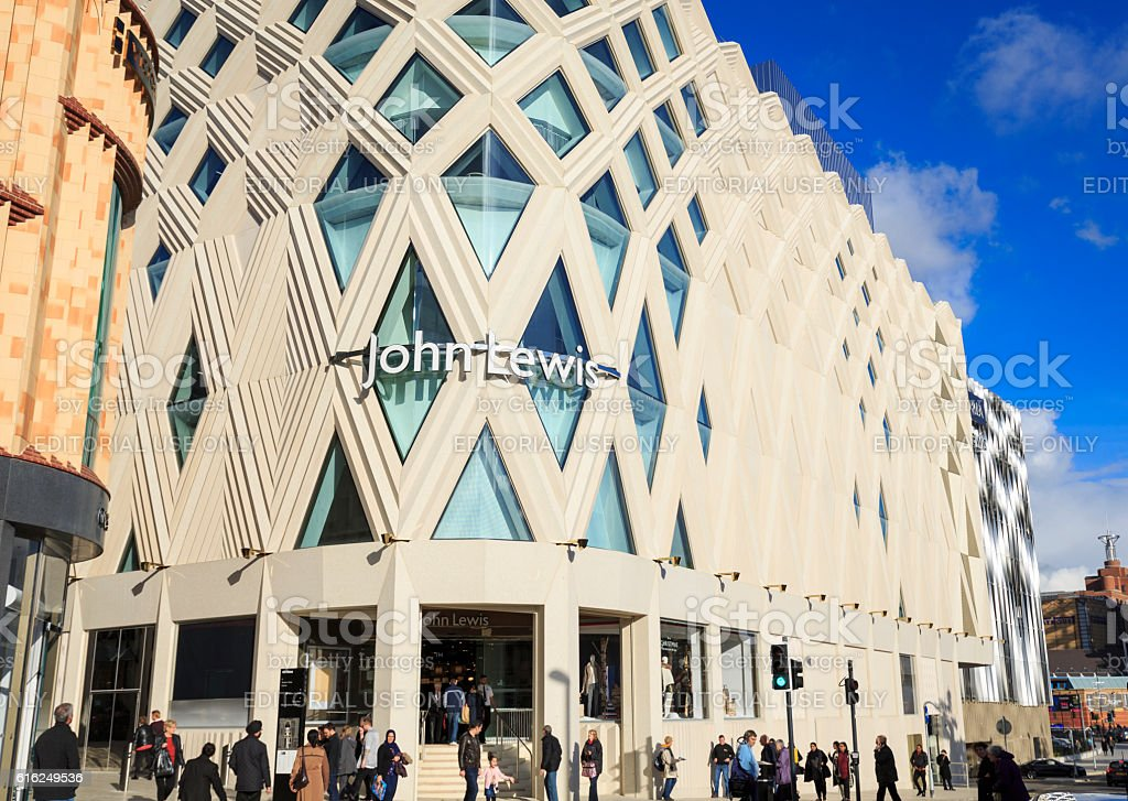 John Lewis store in the new Victoria Gate development, Leeds stock photo
