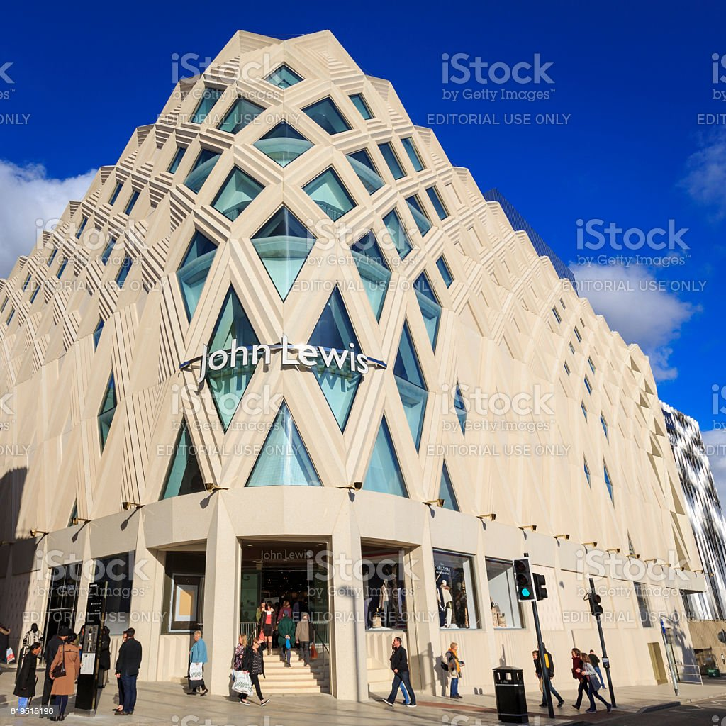 John Lewis store in the new Victoria Gate development, Leeds stock photo