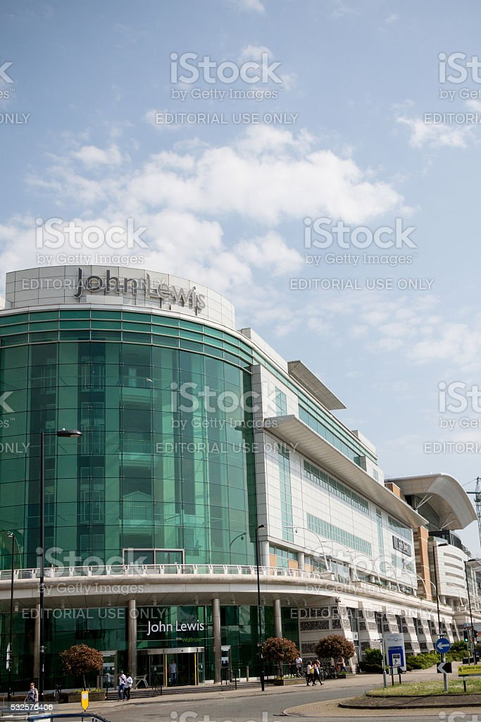 John Lewis Store, West Quay, Southampton, UK stock photo