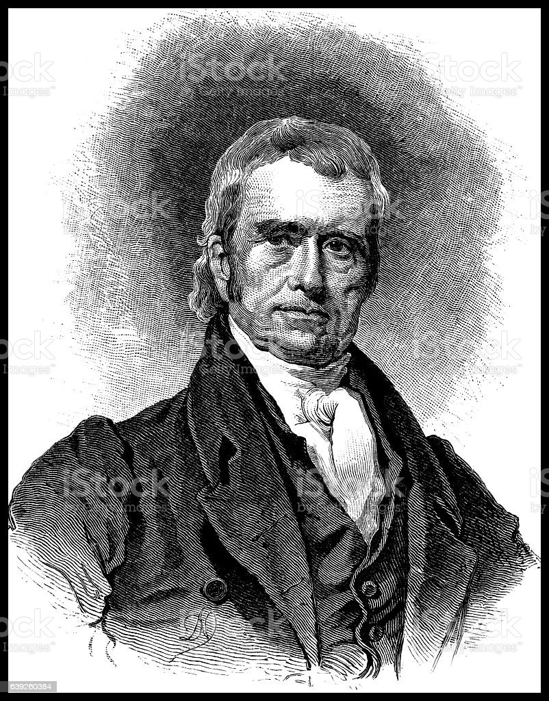 John Marshall Chief Justice of the United States stock photo