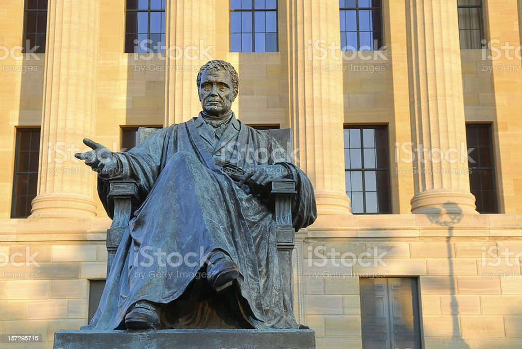 John Marshall Statue at Museum of Art in Philadelphia stock photo