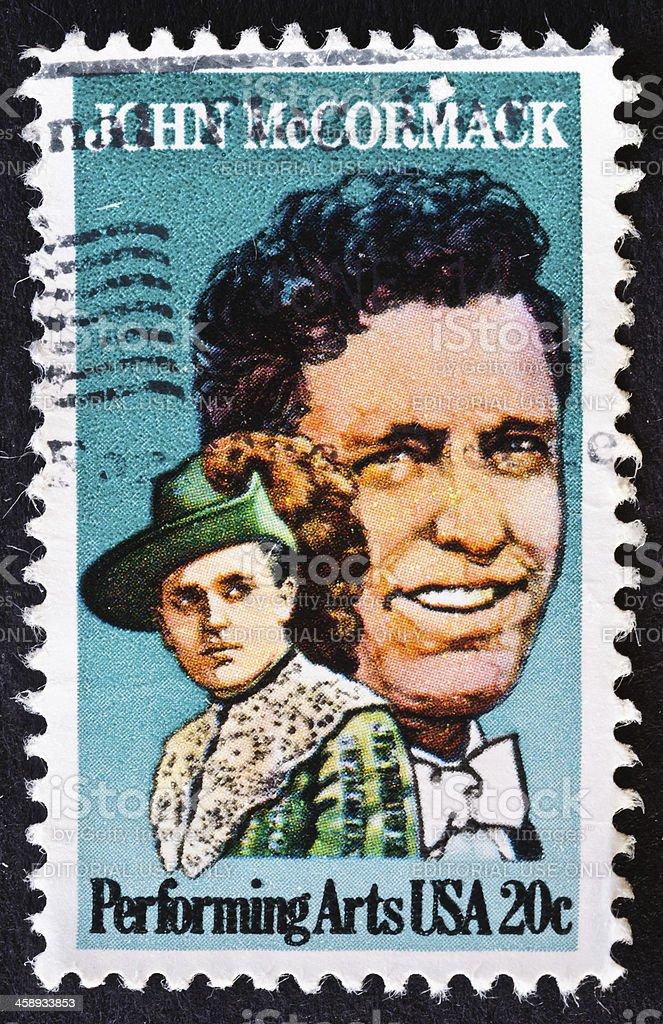 John McCormack Stamp royalty-free stock photo