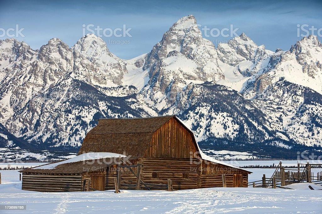 John Moulton Barn (Grand Teton NP) royalty-free stock photo