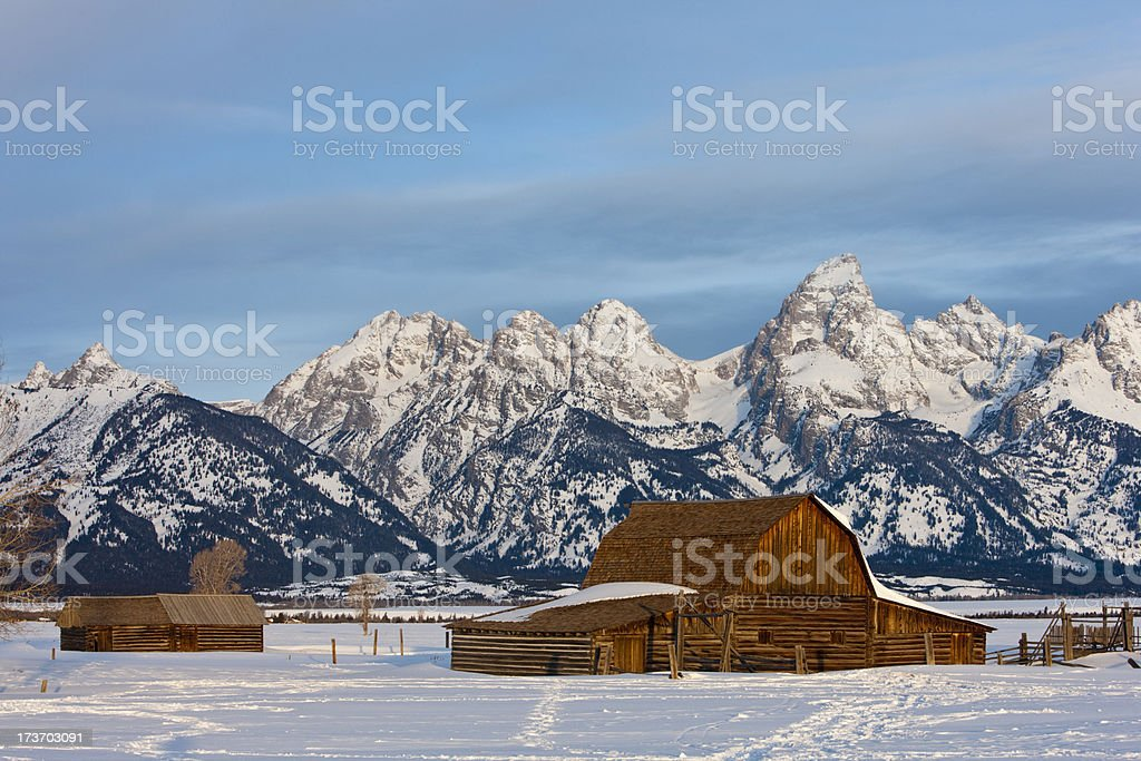 John Moulton Barn (Grand Teton NP) stock photo