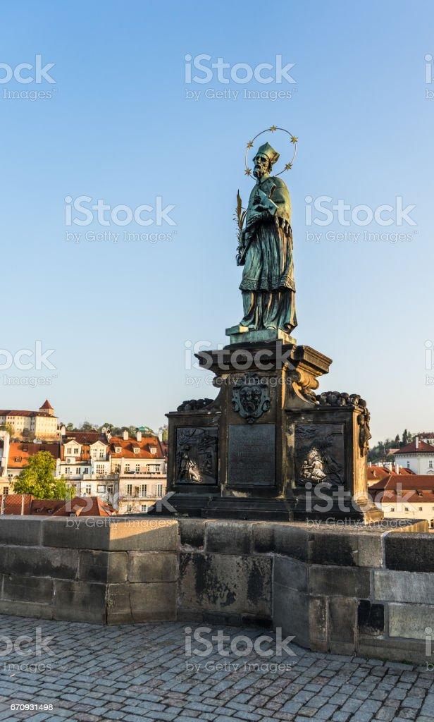 John Nepomuk Statue stock photo