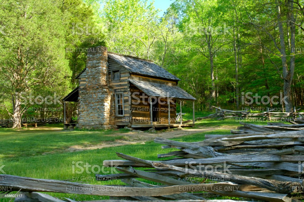 John Oliver's Cabin in Cade's Cove Great Smoky Mountains stock photo