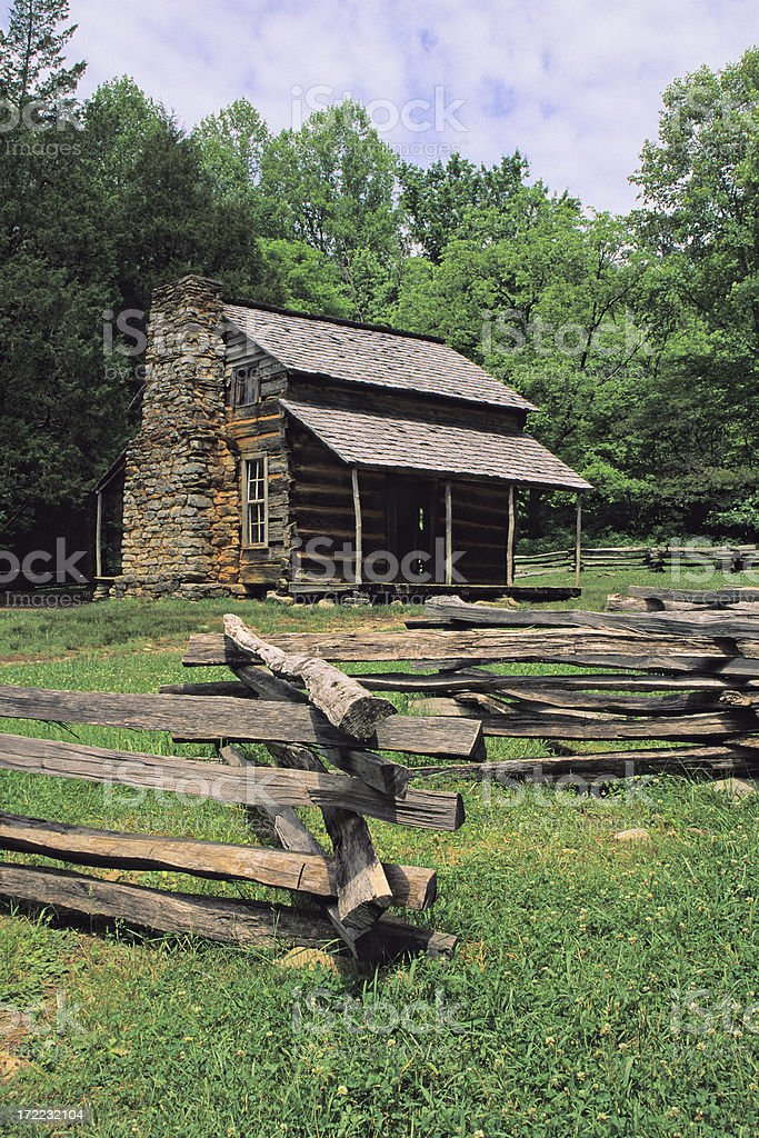 John Oliver's Cabin - Smoky Mountains royalty-free stock photo