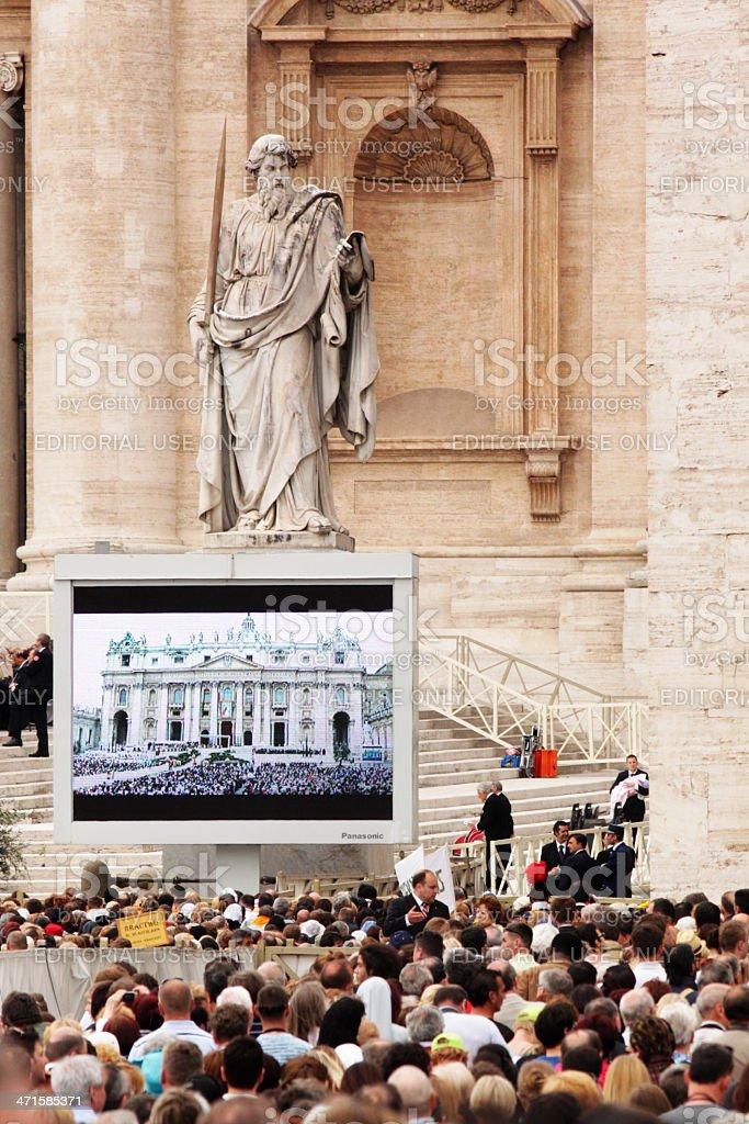 john paul's II beatification stock photo